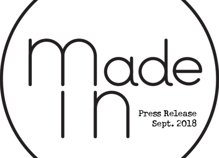 Made In - Press release (Sept. 2018)